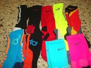 Nike Elite & KD Dri Fit Socks Lot M (6-8) & L (10-12) Men's 9 Pair Basketball