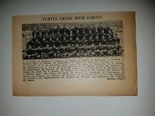 Turtle Creek Pennsylvania High School 1928 Football Team Picture