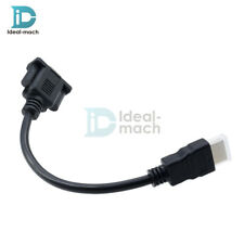 1080P HDMI Male To VGA D-SUB 15 Pins Female Video AV Adapter Cable For PC HDTV