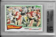 1982 TOPPS BGS 8.5 NM/MT+NFC CHAMPIONSHIP THE CATCH BGS
