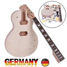 Muslady LP Style Unvollendete E-Gitarre DIY Kit Mahagoni Griffbrett X6B6