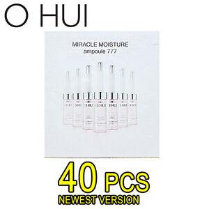 OHUI Miracle Moisture Ampoule 777 40pcs Deep Hydration Anti Aging Moisturizer