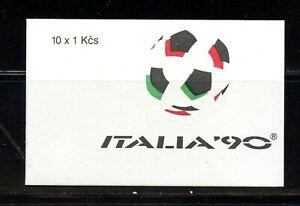 Z398  Czechoslovakia  1990   football soccer  COMPLETE BOOKLET   MNH