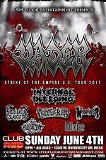 "Vader ""Strike Of The Empire U.S. Tour 2017"" Phoenix Concert Poster - Death Metal"