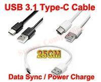 Type-C to USB 2.0 Adapter Cable 25cm Data Power Charger Cord For Samsung S8 S8+