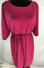 The Limited Dress Fuchsia Pink Slit Sleeve Petite SZ M Women'sLined Career (D
