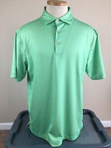 Peter Millar Summer Comfort Troon North Golf Polo Shirt Green Men's Size M