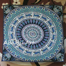 "35"" Deer Mandala Extra Large Floor Cushion Pillow Cover Square Pet Dog Bed Cover"