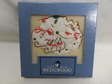 Wedgwood White Jasper Merry Christmas to All Santa with Sleigh Ornament