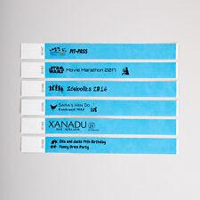 Colour Event Wristbands | Party Festival Security Identification Tyvek Paper Sky Blue Plain 500