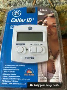 Home Phone Caller ID Display Box GE 2-9016 Name Number Memory Language Land Line
