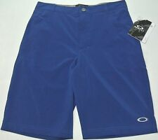 Oakley Boys Shorts Juniors Sanders 9.0 Small Reg Dark Blue hydrolix 4Way Stretch