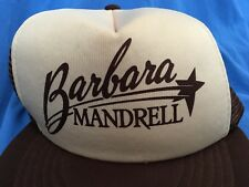 Vintage BARBARA MANDRELL Trucker Hat Country Music Legend Cap Grand Ole Opry USA