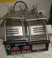 Tested Working Star Pro-Max Two-Sided, Split Top, Smooth Panini Grill GR14SPT