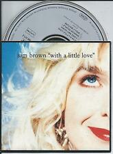 SAM BROWN - With a little love CD SINGLE 4TR CARDSLEEVE 1990 WEST GERMANY