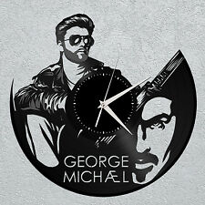 George Michael Clock Vinyl Record Wall Art Home Sign Decor Original Gift - 12""