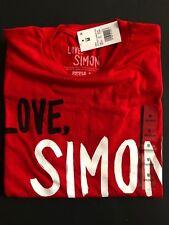 'LOVE, SIMON' FILM LOGO T-SHIRT [NEW, 2018] - RED - 100% COTTON - MEN'S TEE