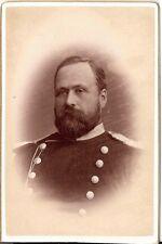 CDV photo Soldat mit Epauletten - Linköping 1890er