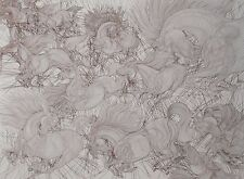 """Guillaume Azoulay """"Onze Chevaux"""" Limited Edition Etching  #11/150"""