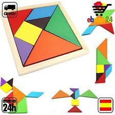 Juego de Madera Niños educativo rompecabezas Tangram juguete *Envío GRATIS desde