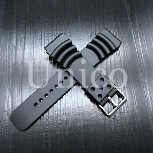 Replace Citizen 20mm Watch Band Eco-Drive Aqualand Promaster Black Rubber Strap