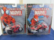 Lot(2) Maisto Spiderman Ultimate Marvel Motorcylce: Ducati 996SPS Triumph Sprint