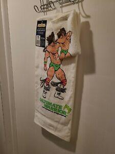 WWF Ultimate Warrior 2 pc Bath Mate Set McArthur Towels 1991 Vintage NWT  RARE