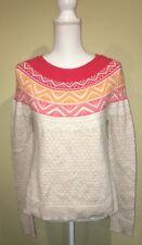 Gap Womens Sweater Tan Pink Orange Angora Rabit Hair Size Small