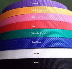 Webbing strapping 20mm wide 12 colours 5 metres FREE SHIPPING!