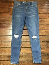 Topshop Moto Skinny Jeans Jamie Ripped Blue Size 16 W34  To Fit L34  T~56