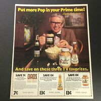VTG 1981 Dads Root Beer & Orville Redenbacher's Gourmet Popping Corn Ad Coupon