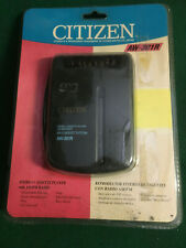 CITIZEN AW-301R  PERSONAL CASSETTE PLAYER AND RADIO  NEW OLD STOCK