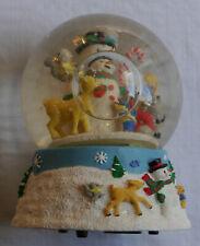 996 Frosty the Snowman & Friends Snow Globe San Francisco Music Box Company