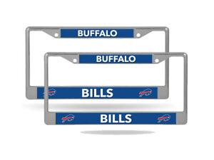 Buffalo Bills (Set of 2) Lightweight Chrome Metal License Plate Frames
