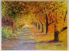 Oil Painting Landscape. Autumn's Sunlight.