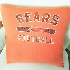 CHICAGO BEARS tee shirt pillow cover repurposed orange fits 16x16 inch pillow