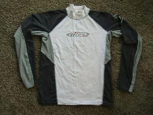 Titos UV Guard White/Gray Cycling Jersey Long Sleeve Moc Turtleneck Men's 3XL