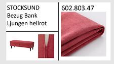 IKEA STOCKSUND Bank Bezug Ljungen hell-rot NEU+OVP! 60280347