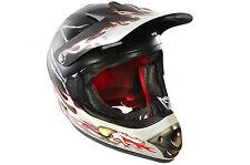 FULL downhill motocross in fibra di vetro FACE CASCO BICI B.E. DRAGON 55-56cm Nero