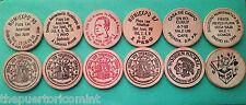 Set 6 Ficha NUMIEXPO 1985-94 PUERTO RICO Wooden Nickel Tengo las que nadie tiene