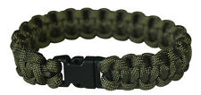 NEU Army Paracord Bracelet Survival Armband Outdoor Camping oliv Klip
