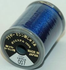 Brother Embroidery Machine Embroidery Thread Polyester 300m Choice Colours A817 007 Prussian Blue