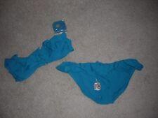 Converse Swimwear Two Piece Swimsuit Blue Green NEW/NWT