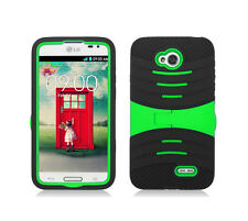 Screen Protector + U-Stand Hybrid Phone Cover Case LG Optimus Exceed 2 VS450PP