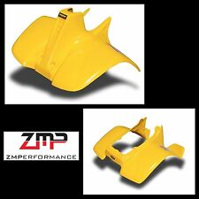 NEW SUZUKI LT50 84 - 87 QUADRUNNER PLASTIC YELLOW FRONT AND REAR FENDER SET