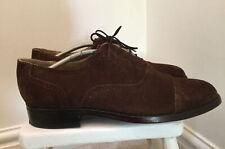 """Men's """"Samuel Windsor"""" Handmade Chocolate Brown Suede Brogues size UK10 / EU44"""
