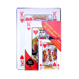 Jumbo Playing Cards A5 A4 A3 Sized Play Your Cards Right