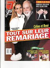 CELINE DION  RARE 7 JOURS MAGAZINE VOLUME 11 DECEMBER 1999 WITH RENE