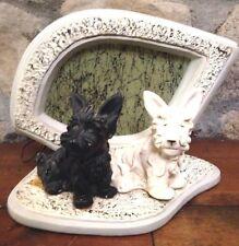 vtg LM FIELACK SCOTTIE DOG FIBERGLASS TV LAMP chalkware mid century art deco