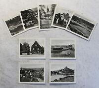 Gasthaus zum Jägerheim am Golkwald Löbsal bei Meißen 9 Fotobildchen um 1930 xz